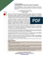 Communiqué de presse de la Communauté du Pays d'Aix 6 octobre 2015