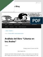 Análisis de Lituma en los Andes