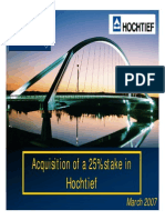 ACS - Acquisition of a 25% Stake in Hochtief