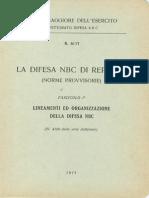 La difesa N.B.C. di reparto - Fascicolo 1 - Lineamenti ed organizzazione della difesa NBC (6117) 1975
