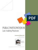 Public Participation in Law Making Processes