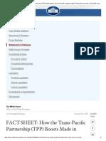TPP Fact Sheet and Summary