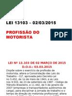 Lei 13103 Profissao Motorista