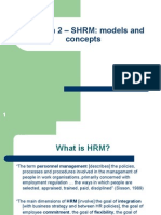 SHRM Models and Concepts