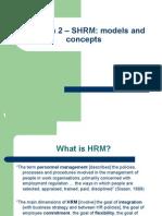 SHRM Models and Concepts