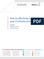 How to Effectively Audit your IT Infrastructure