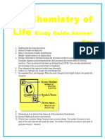 chemistry of life study guide answer key