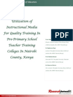 Utilization of Instructional Media for Quality Training