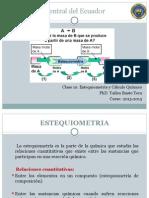 Clase 10. Estequiometria y Calculo Quimico