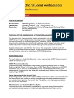 SA 2016 Engineering Student Ambassador Position Description