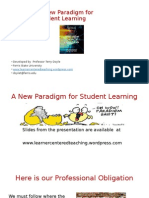 A New Paradigm for Student Learning NSEE Conference