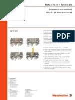 Weidmuller WTL 6-1 STB Datasheet