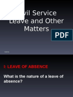 Civil Service Rules on Leave