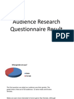 Audience Research Questionnaire Result
