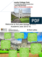 Presentation to First Years Sept 7th and 8th September (2015-16)