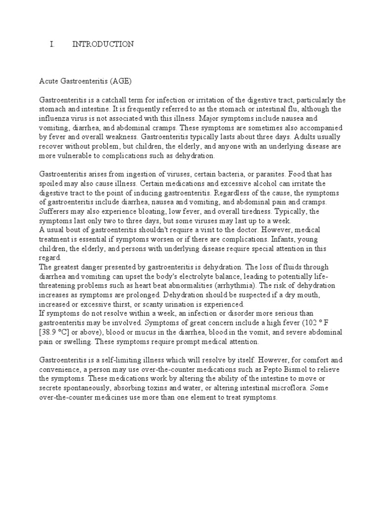 case study acute gastroenteritis scribd