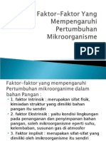Faktor-Faktor Yang Mempengaruhi Pertumbuhan Mikroorganisme