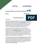 Evaluating Training Provision