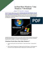 Panduan Instal Dual Boot Windows 7 Dan XP Versi 2