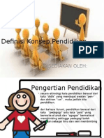 Definisi Konsep Pendidikan