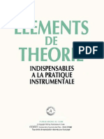 Elements de Théorie Indispensables à La Pratique Instrumentale