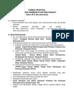 Format Proposal Dana Hibah Pemberdayaan Masy