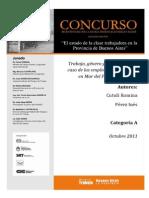 Trabajo, Género y Desigualdad. El Caso de Las Empleadas Domésticas en Mar Del Plata, 2010-2011