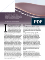 Cross-functional role of trace minerals