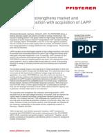 PFISTERER acquires LAPP Insulators