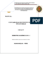 Manual Contabilidad de Instituciones Financieras - 2015