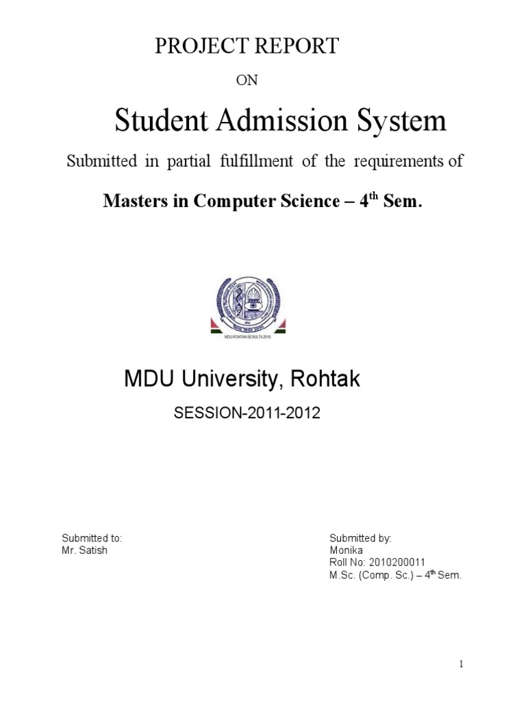 1student Admission System Databases Software Testing