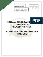 Manual de Organizacion de Ciencias Basicas