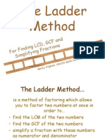 Ladder for Gcf Lcm Simp Frac