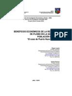 Beneficios ecomicos de La Reducccion de La Contaminacion Del Plomo en La Sangre de Poblacion Infantil