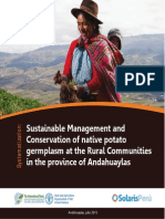 Sustainable Management and Conservation of native potato germplasm at the Rural Communities in the province of Andahuaylas