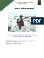 Informe Por Heladas  2014