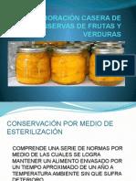 Elaboración Casera de Conservas de Frutas y Verduras