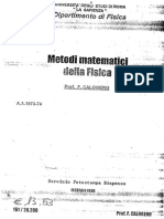 Metodi Matematici della Fisica - F. Calogero (1973)(512p)
