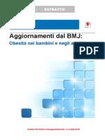 Aggiornamenti dal BMJ - Obesità nei bambini e negli adulti