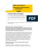 CARE Project Standards Measurement Instrument