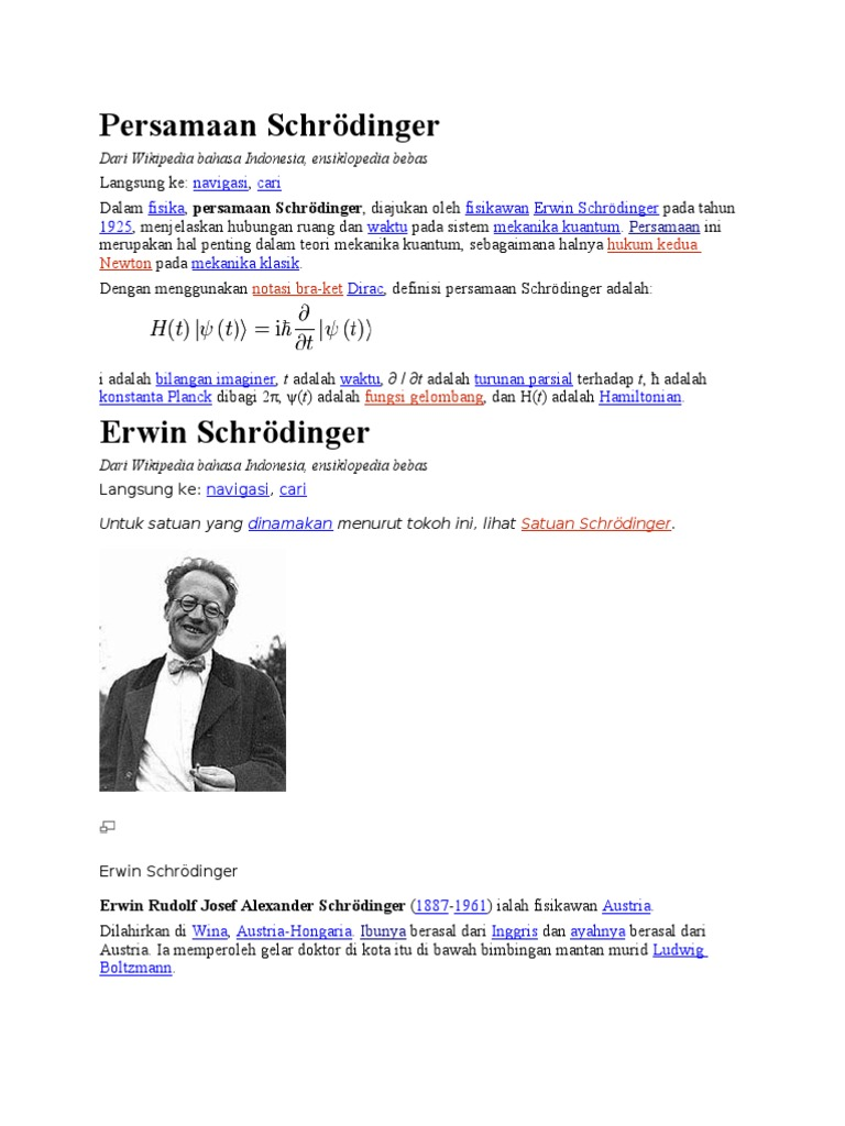 Persamaan Schrodinger Pdf