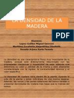 La Densidad de La Madera