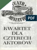 Kwartet Dla Czterech Aktorow Teatr Slowackiego Krakow 1982
