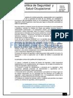 Politica de Segurida y Salud Ocupacional Fermont