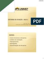 AULA 1 - Sistemas de Atuação - Introdução - UNIMEP