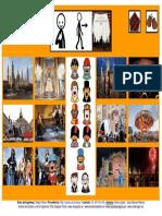 Tablero de comunicación aumentativa sobre las fiestas de Pilar con pictogramas y fotografías