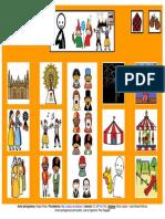 Tablero de comunicación aumentativa sobre las Fiestas del Pilar - 12 Casillas