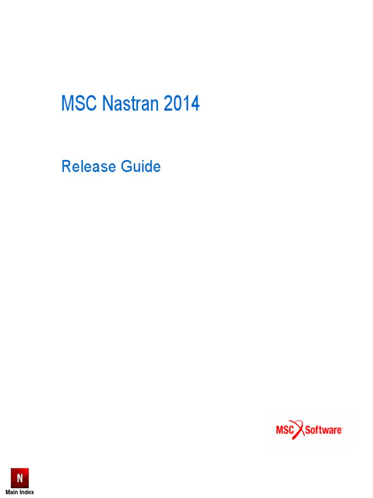 msc nastran 2014 release guide fatigue material technology rh scribd com nastran quick reference guide 2018 nastran quick reference guide 2012