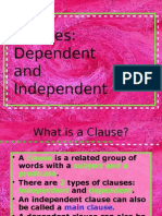 january - clauses- dependent and independent