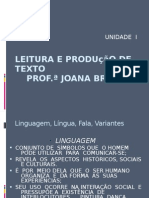 Leitura e Produção de Texto Prof.ª Joana